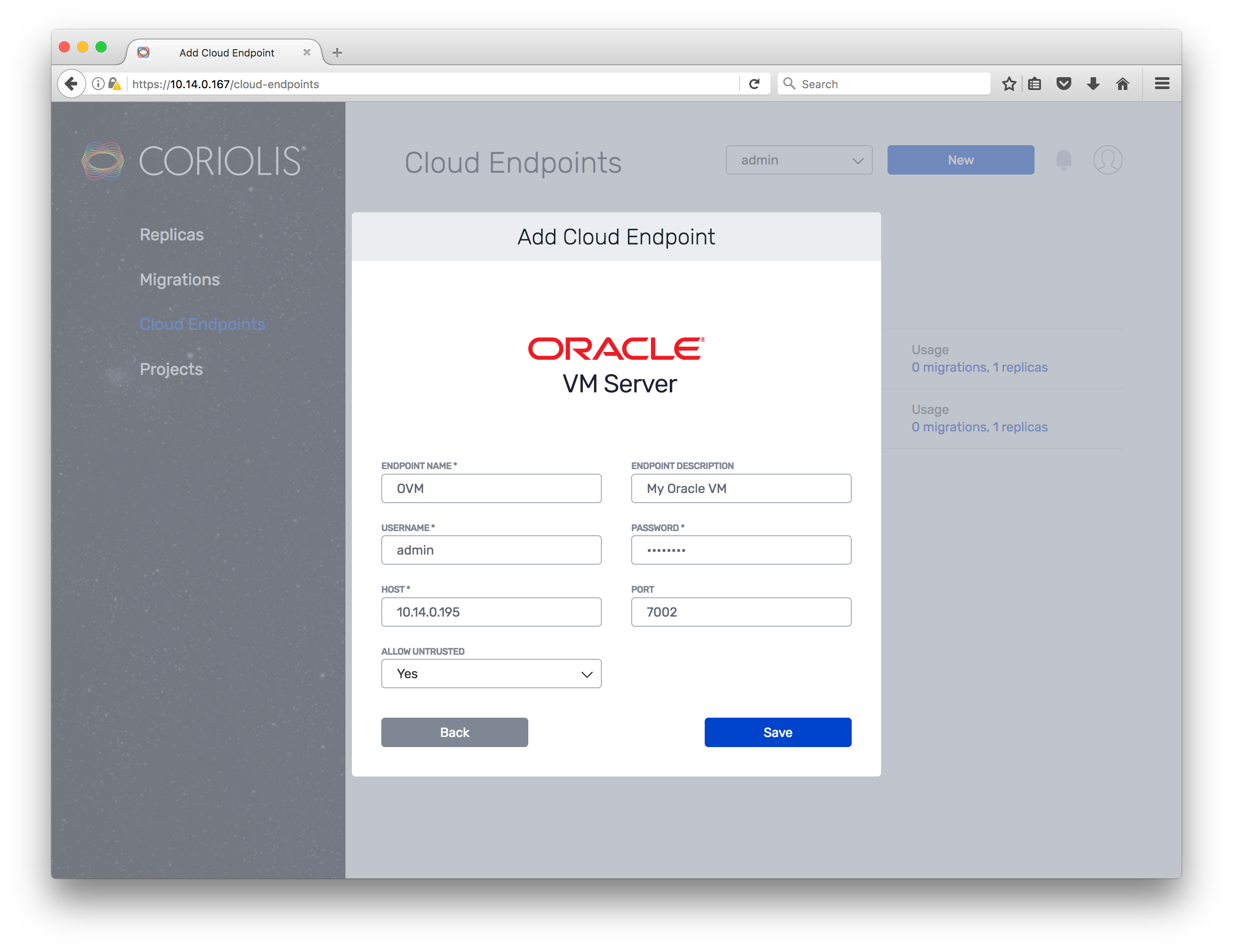 Coriolis - How to migrate VMs from VMware to Oracle VM using